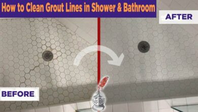 How to Clean Grout Lines in Shower & Bathroom