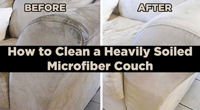 How to Clean a Heavily Soiled Microfiber Couch