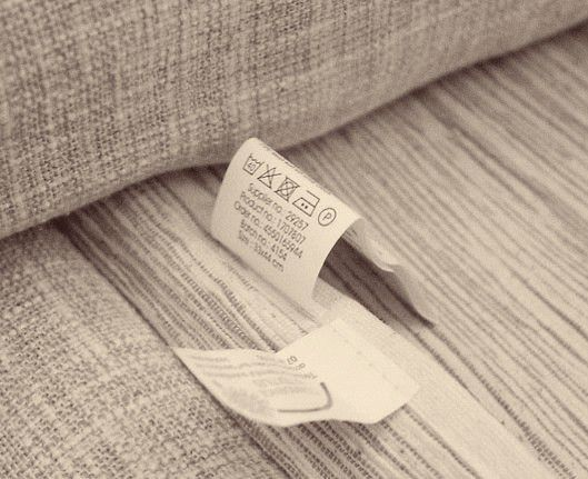 Read Instruction Tag on Sofa