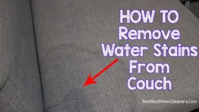 how to remove water stains from couch with steam cleaner